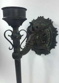 Antique Gothic Medieval Torch Wall Sconce Cast Iron ...