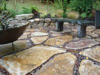 River Rock Patio | Large Flagstone and River Rock Patio on ...
