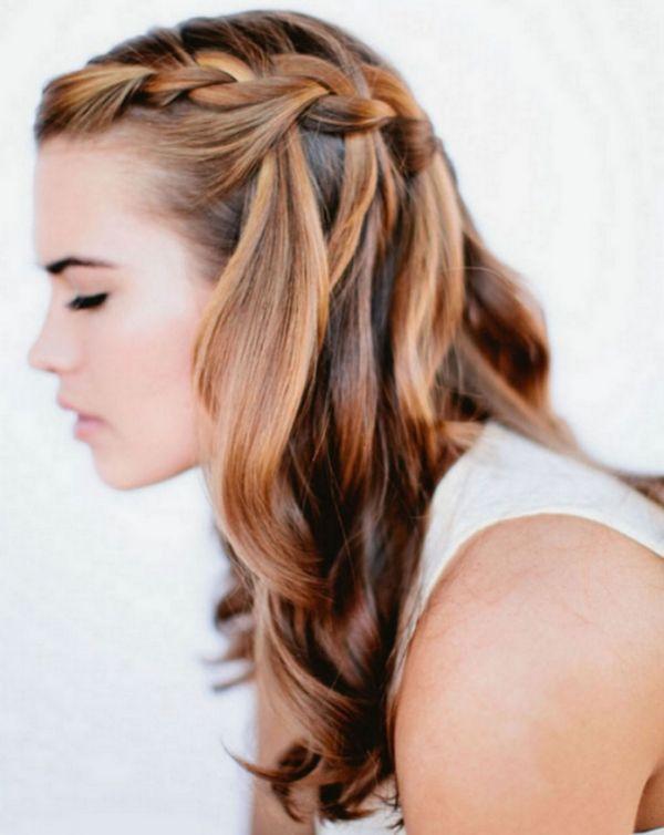 Modische Frisuren Ideen Für Lange Haare Französischer Zopf Flechten