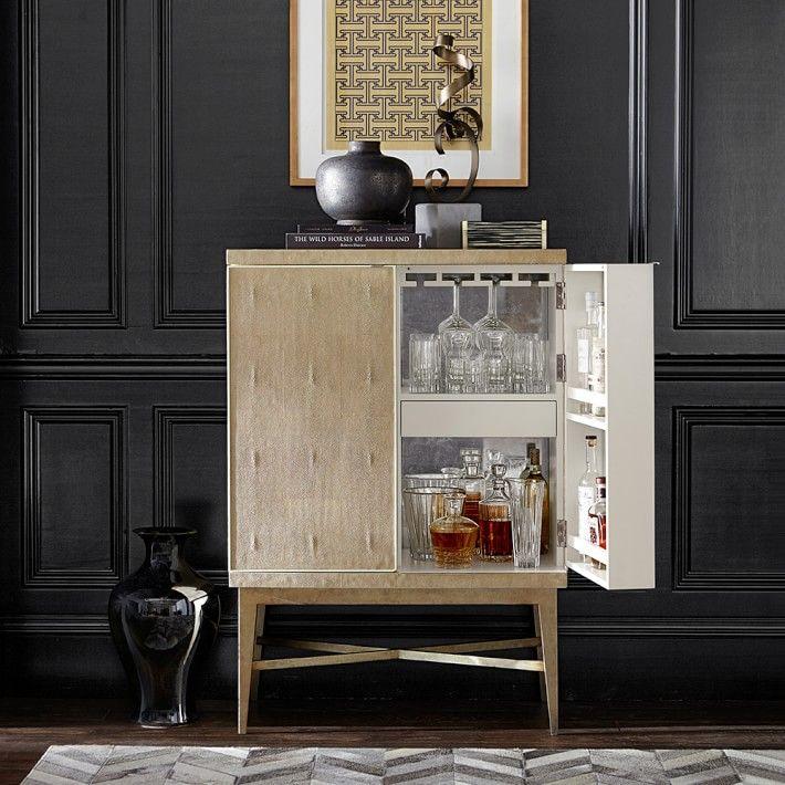 Mueble bar de estilo Hollywood Regency  MUEBLES INTERIOR
