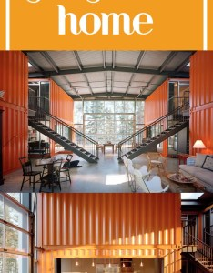 Container house this shipping home has  modern interior the window filled lots of light and spacious feel thanks to high ceilings also rh uk pinterest