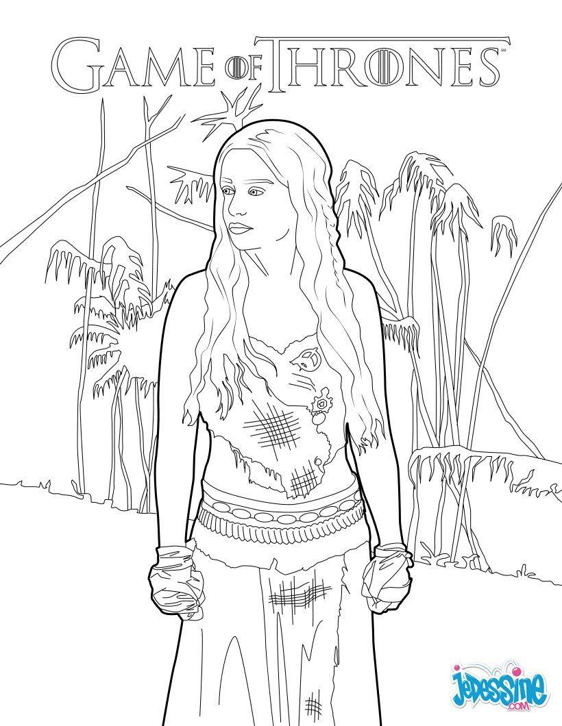 Coloriage : Game Of Thrones : Daenerys Targaryen, la mère