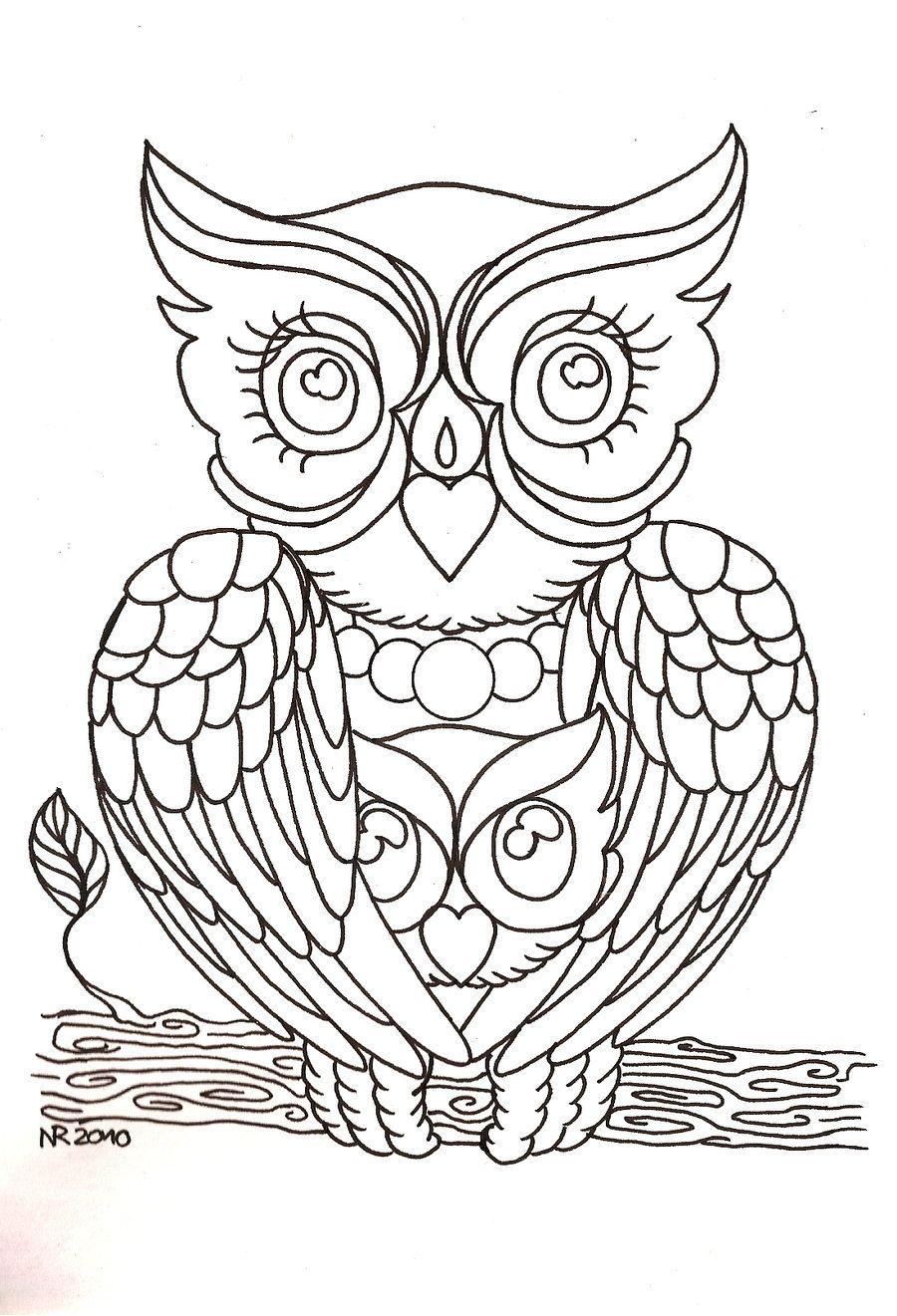 Mama Owl by MahakaliCreation.deviantart.com on @deviantART