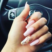coffin shaped clear nails