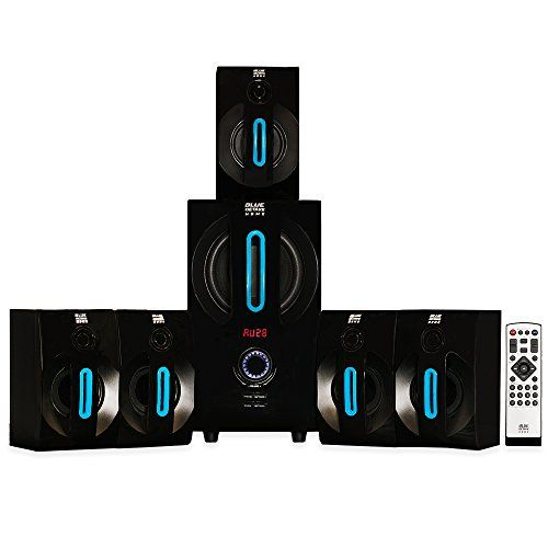 Blue octave home theater powered bluetooth speaker system with fm and extension cables more info could be found at the image url also acoustic audio csic inch round way white you can rh pinterest