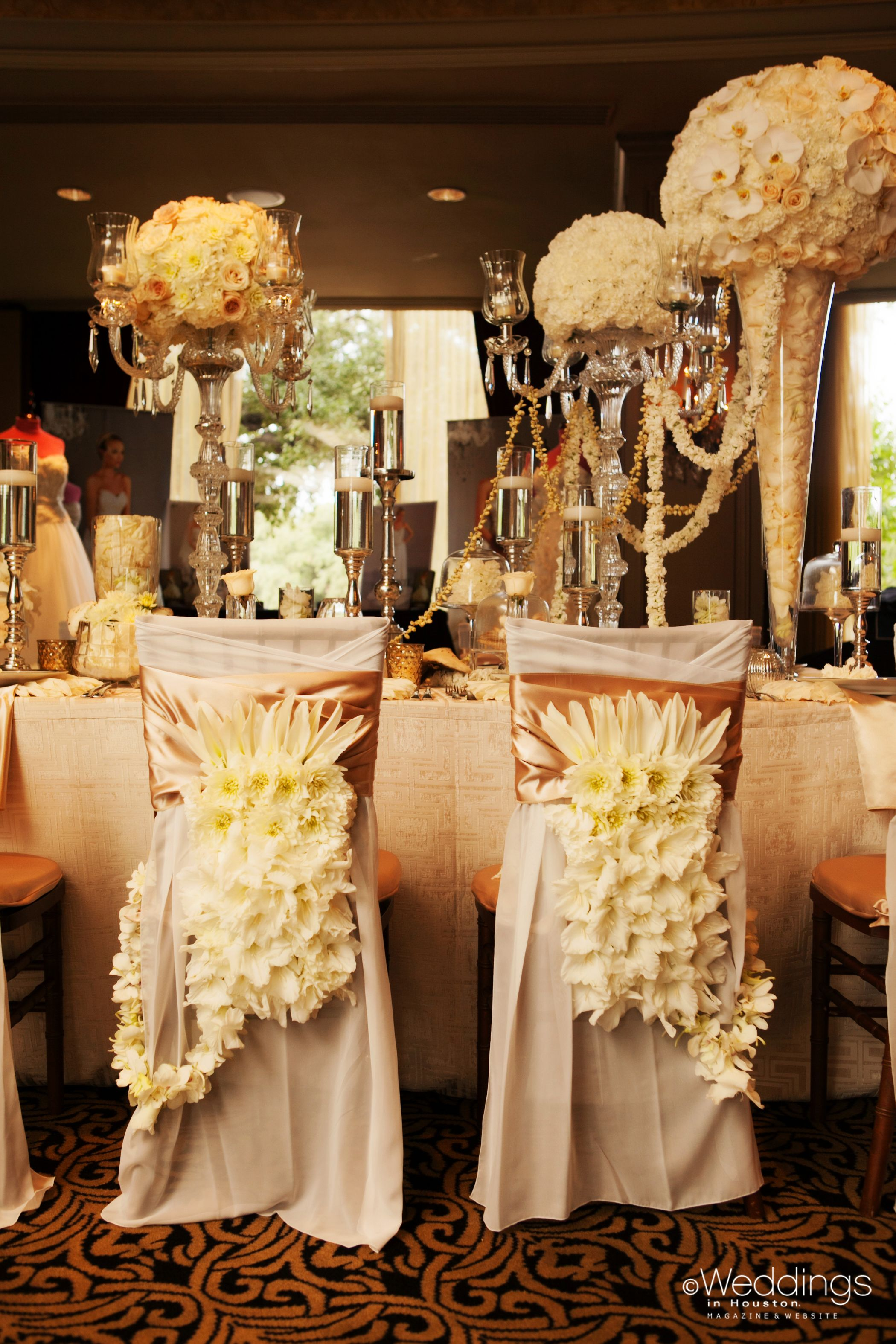 chair covers and more houston bar table height high accented with flowers for the bride groom by aj s urban petals