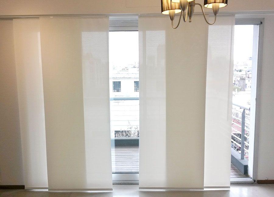 Panel Oriental y Cortinas Roller Sistema Doble  Eliana