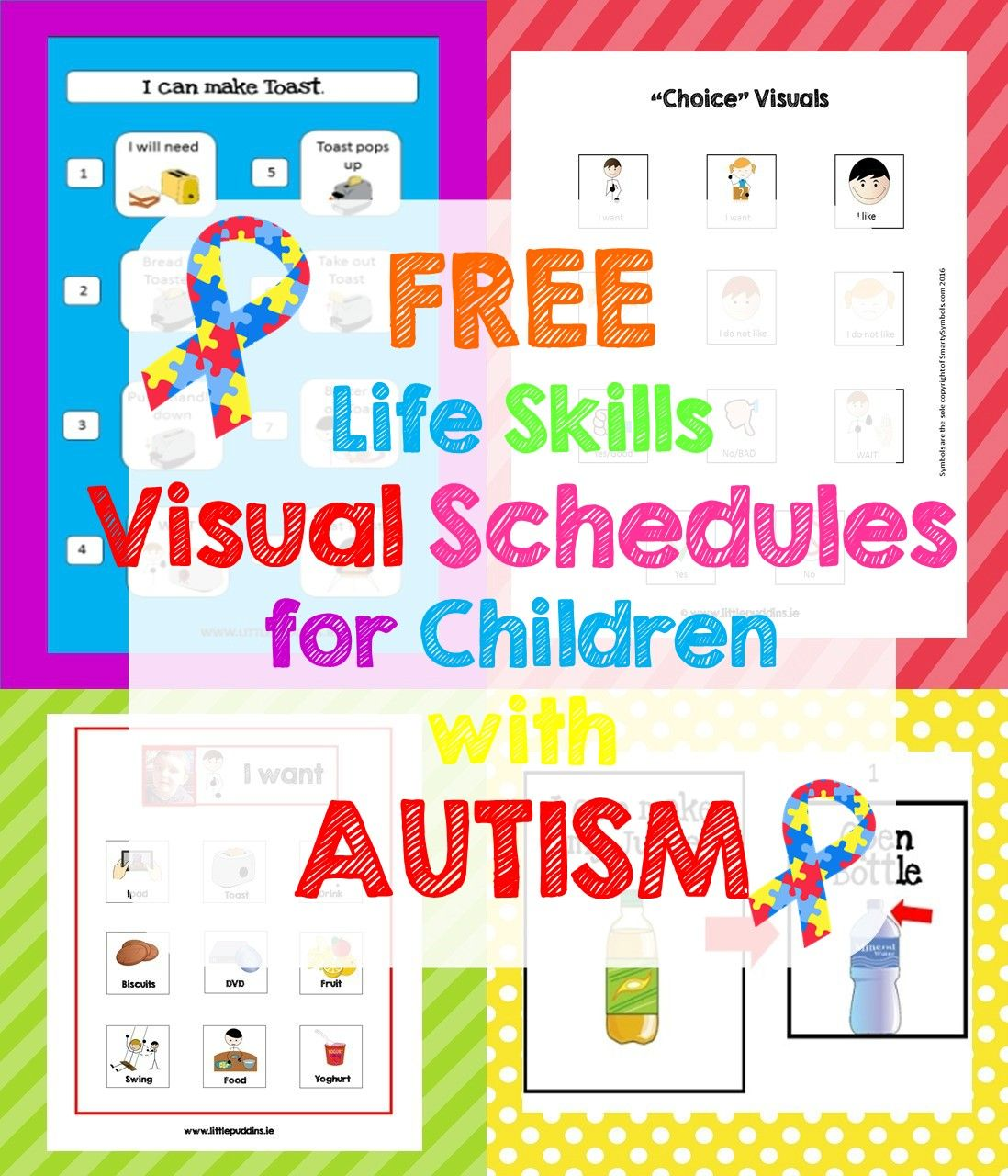 Autism Life Skills Free Visual Schedule Printables