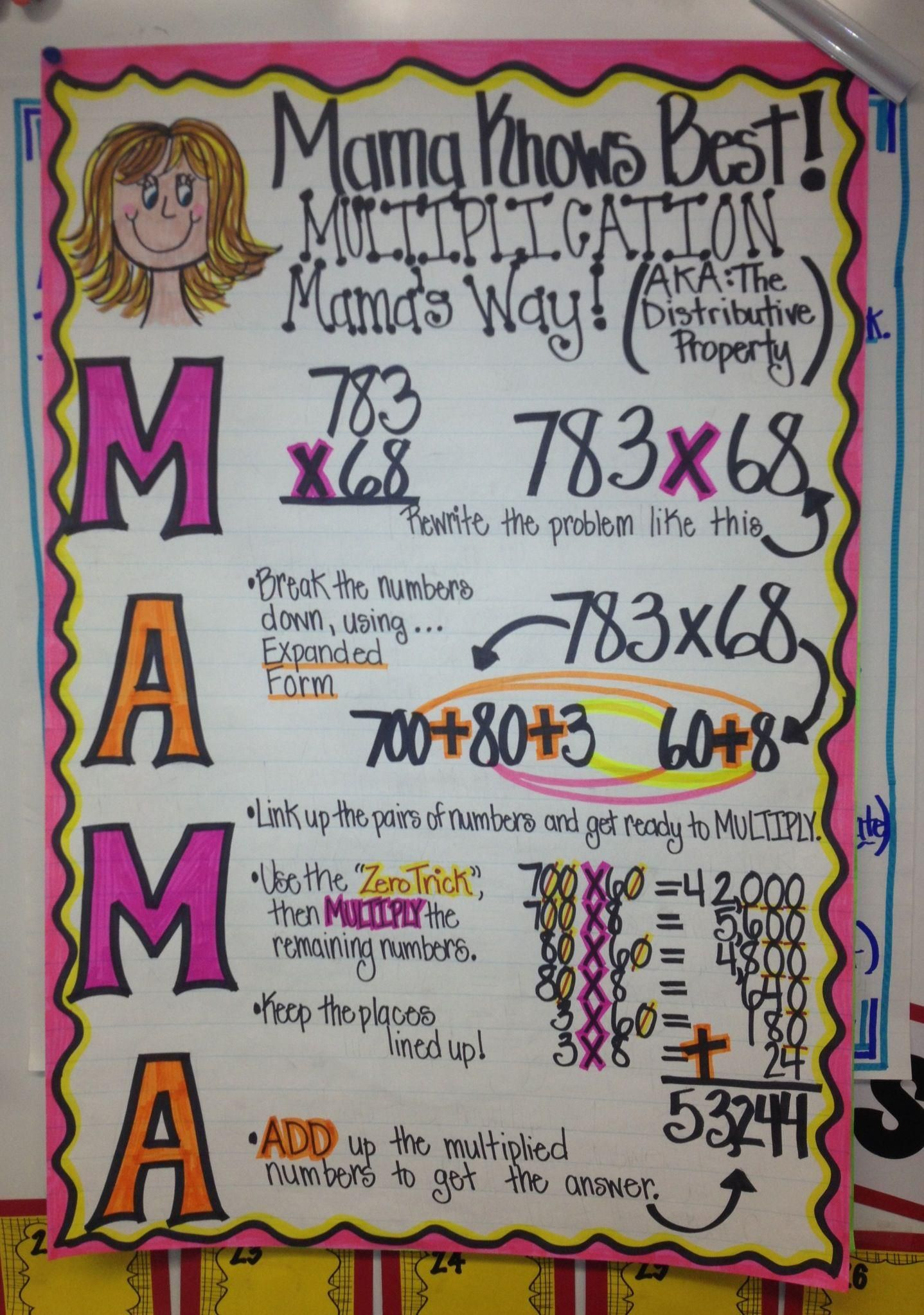 Multiplication Using The Distributive Property You Can Find It Here On Fb S