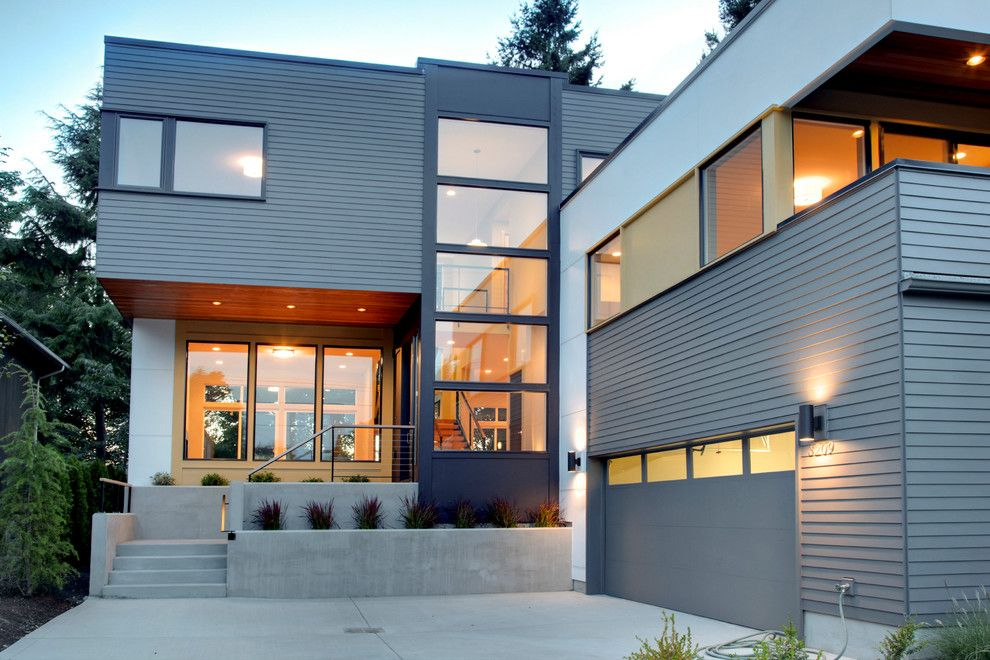 Modern House Siding Exterior Contemporary With Cable Railing