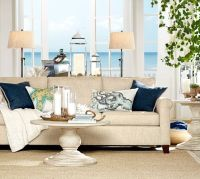 Cameron Upholstered Sofa, Polyester Wrapped Cushions ...
