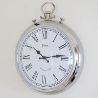 Beautiful large silver wall clock from www.bliss and bloom