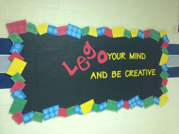 Lego Bulletin Board - Awesome School
