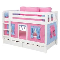 Have to have it. Hot Shot Girl Twin over Twin Tent Bunk ...