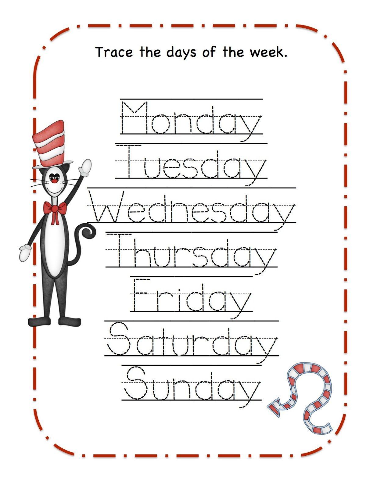 Kindergaren Worksheet Dr Seuss Printable