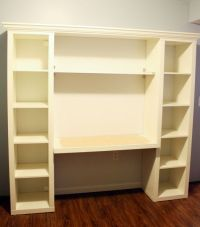 """How to build your own """"built-in"""" desk from Ikea Billy ..."""