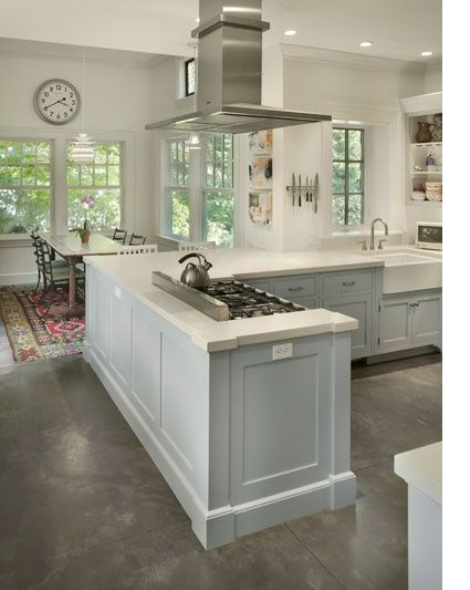 Grey Concrete Floors With White Kitchen 2 Jpg 425 533