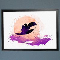 Aladdin Jasmine Magic Carpet Watercolor Fine Art Print ...