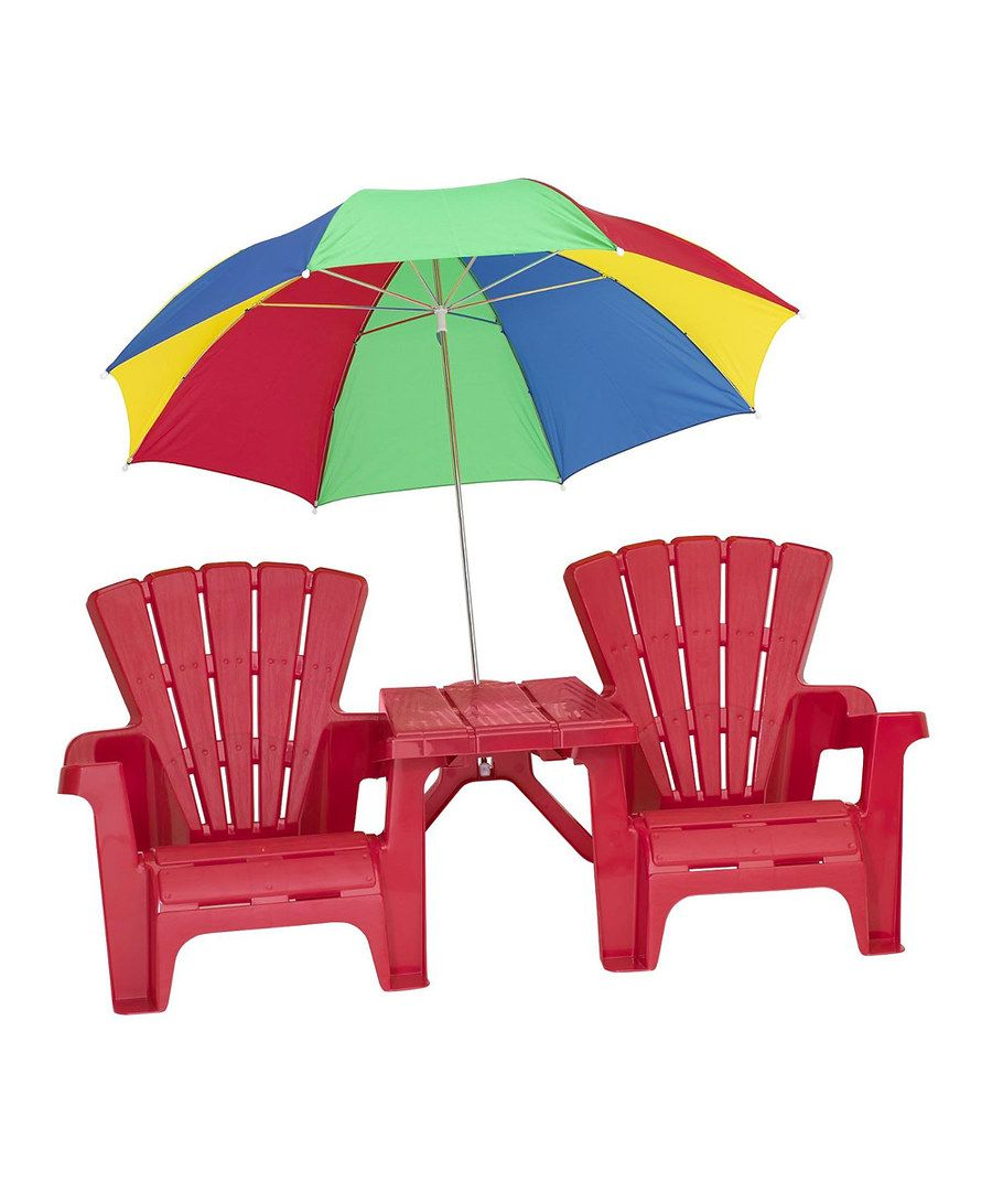 kids adirondack chair and table set with umbrella antique koken barber for sale look at this on zulily today gardening furnitureoutdoor