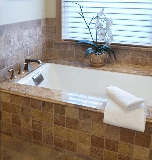 granite tub surround granite tub desk  Wet areas