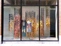 Anthropologie Turning of the Leaves Fall Window Displays