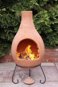 Super Jumbo Mexican Clay Terracotta Chimenea | Stacked ...