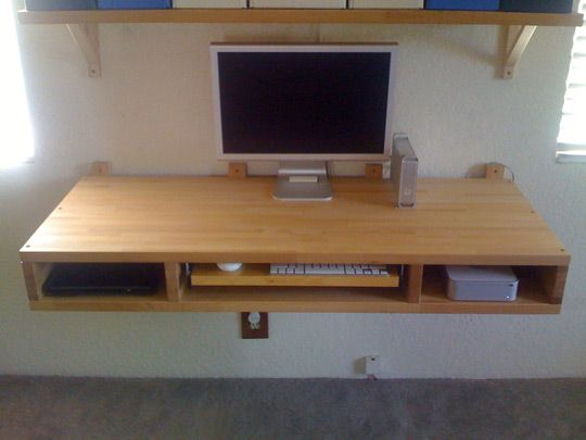 DIY Project: Make Your Own Floating Computer Desk Using