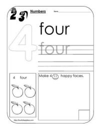Number 4 Worksheet | Math | Pinterest | Worksheets, School ...