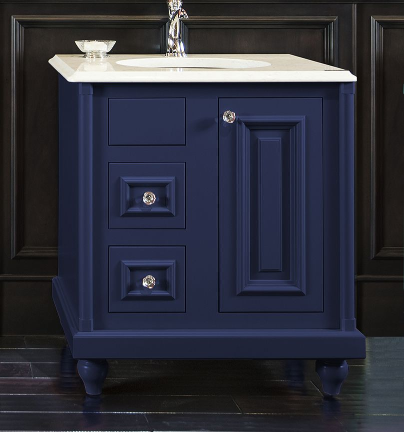 ColorInspire by Wellborn Cabinet in Sapphire Navy Blue