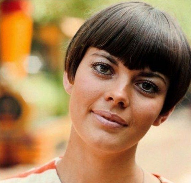 Mireille Mathieu Cropped Hair Styles Pinterest