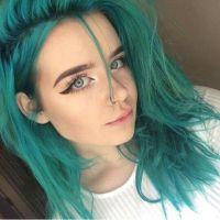 Aquamarine   Turquoise hair, Semi permanent hair dye and ...