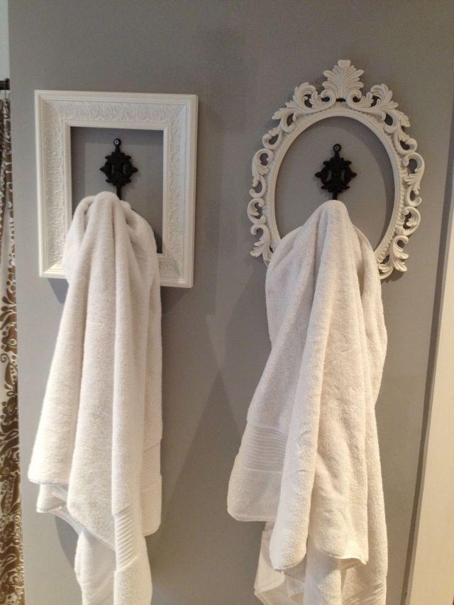 Perfect look for basement bathroom hang your robe towels etc Fun