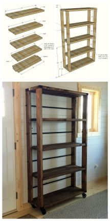 Ana White Build Reclaimed Wood Rolling Shelf Free