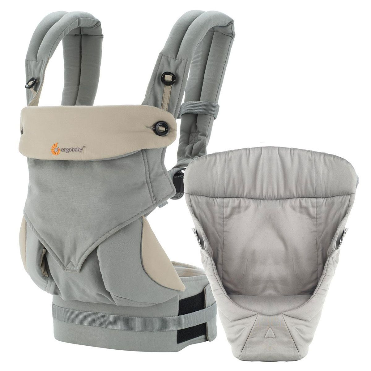 ergobaby four position baby carrier bundle of joy with easy snug infant insert