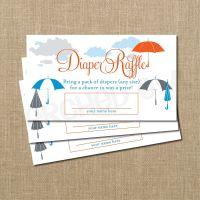 INSTANT DOWNLOAD - Umbrella Baby Shower Diaper Raffle ...