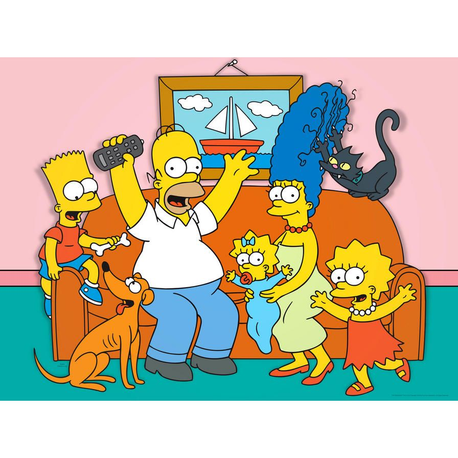 The Simpsons Family Couch Wall Art Screens Simpsons