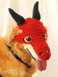Dragon Costume for Dogs, Dinosaur Dog Mask, Dog Dragon