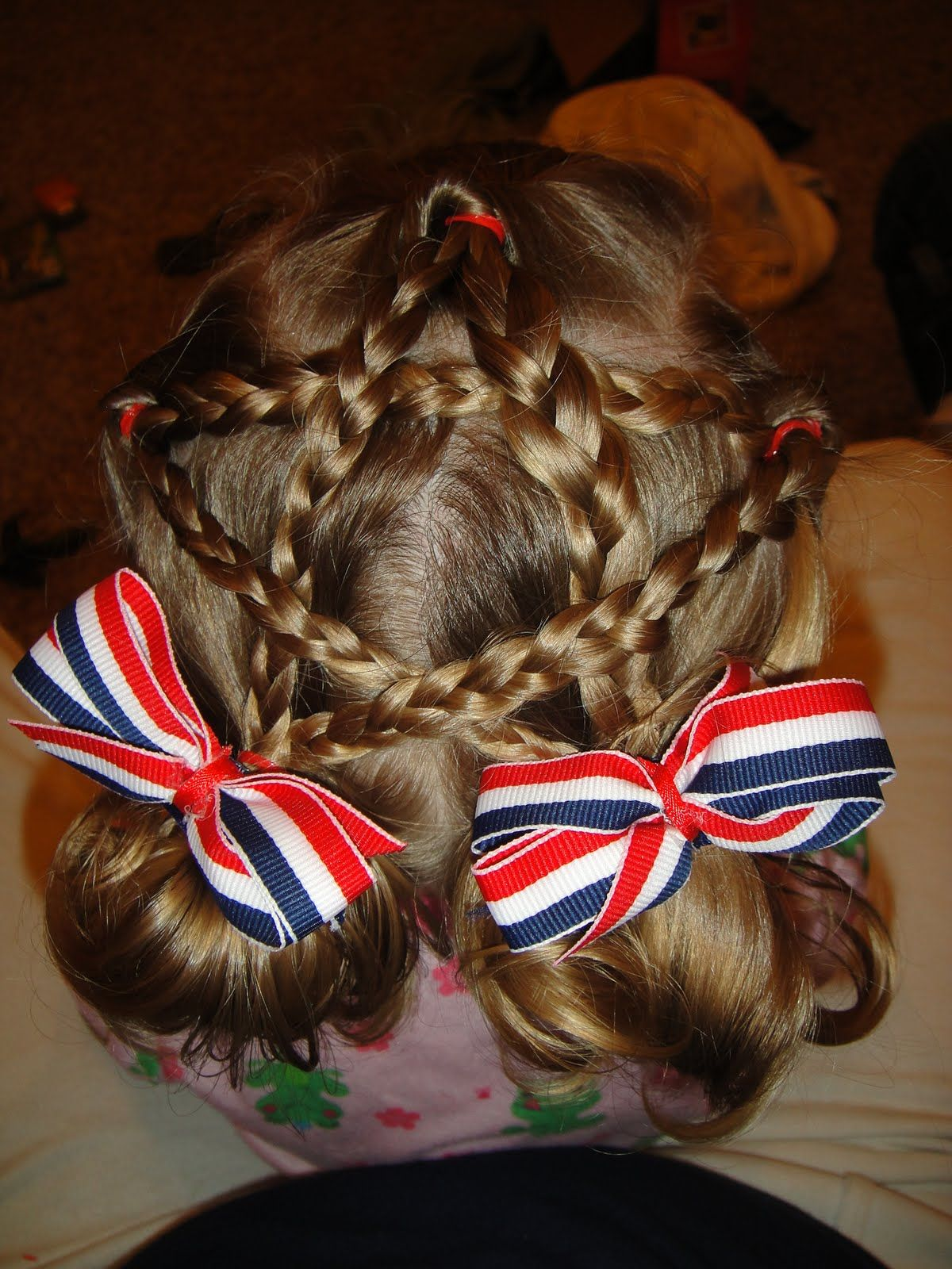 Heather and Randy s Family Blog 4th of July Hair