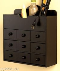Wooden countertop or wall mount hair care cosmetic ...