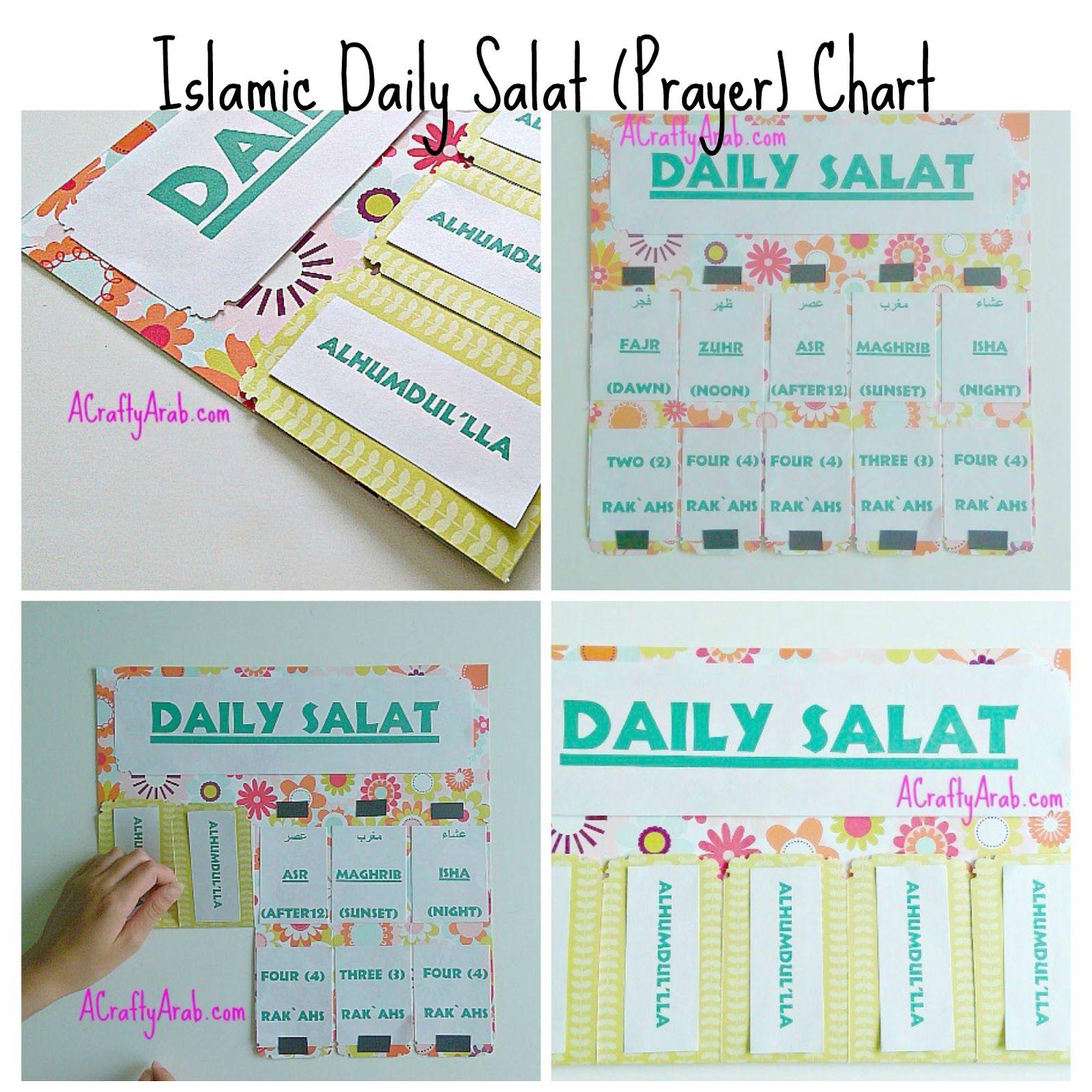 Islamic Daily Prayer Chart Tutorial Guest Post