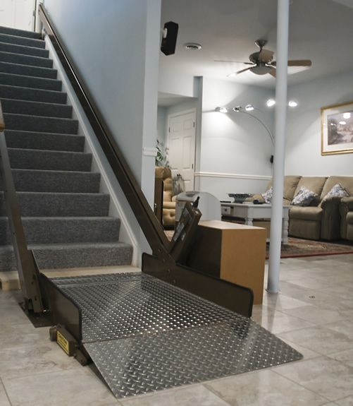 handicap lift chairs stairs oxo tot sprout chair inclined platform wheelchair lifts - an interesting home modification idea. | disability ...