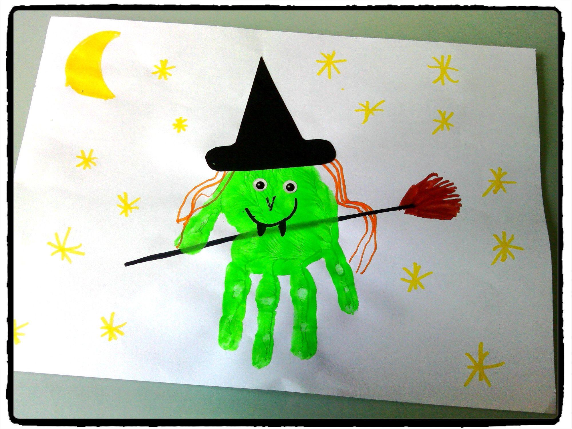 Sorcire En Empreintes De Mains Bricolage Halloween