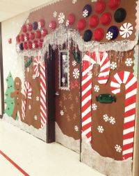 Christmas Holiday Door decoration, for school. Gingerbread ...