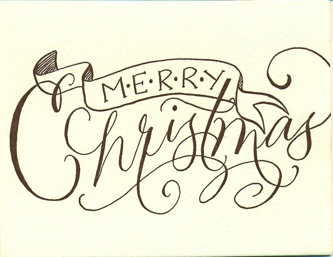 Merry Christmas And Joy Flourish Techniques Video
