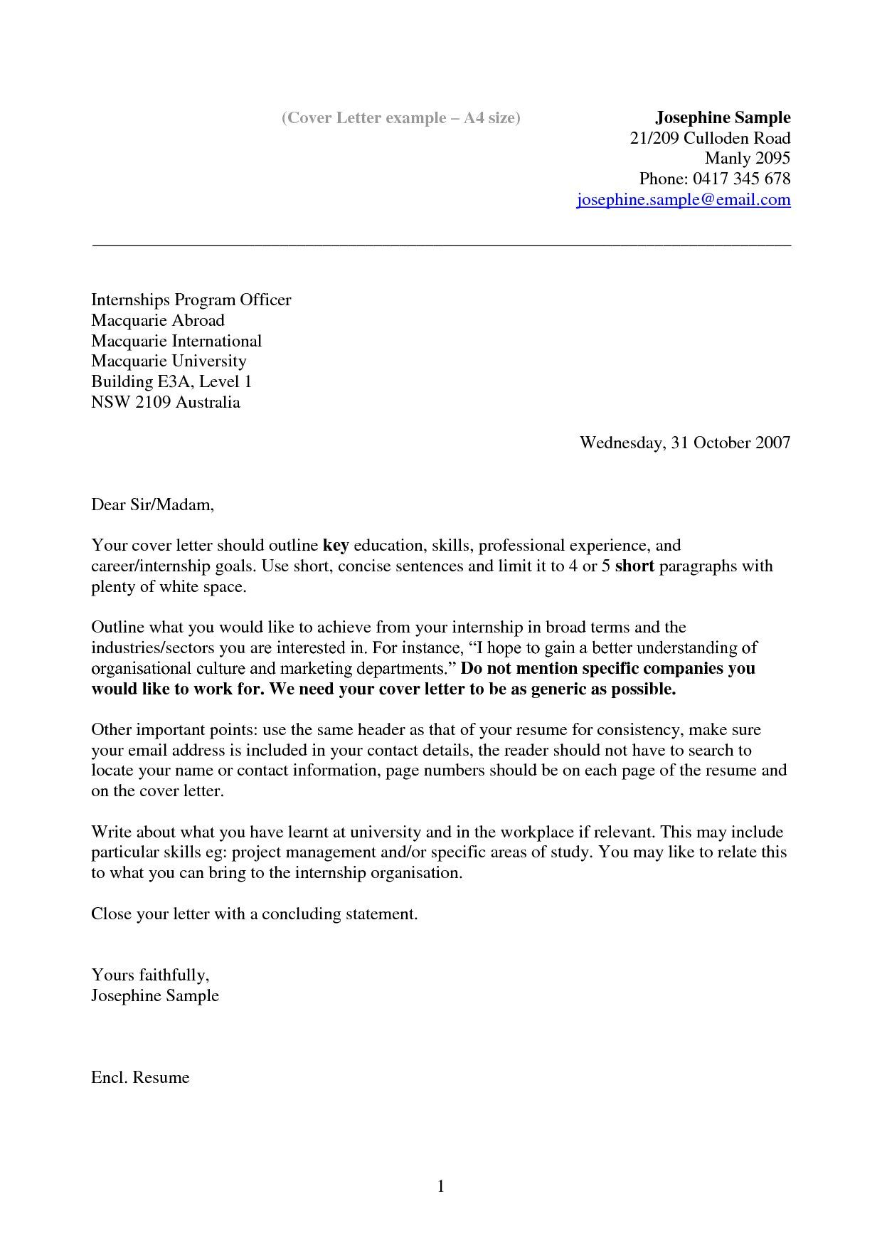 Letter Template Australia Resume Cover News Government Jobs Sample
