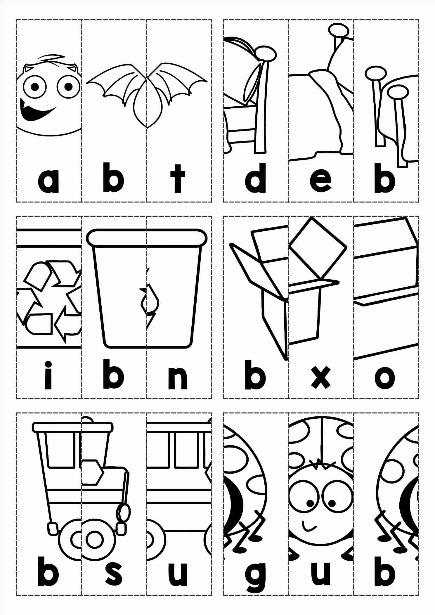 Cvc Worksheet Letter F