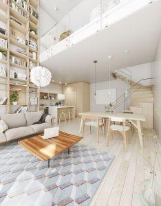 Open plan interior design inspiration also chic living spaces rh pinterest
