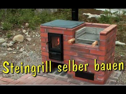 Grill selber bauen aus Stein  SteingrillKamin aus Ziegelsteinen mauern  Holzkohlegrill machen