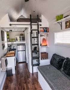 This tiny house on wheels built by tennessee homes has  clean black and white interior sweet little kitchen photographed butch boyd also desain rumah minimalis type mungil rh pinterest