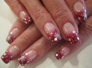christmas gel nails. nail ideas